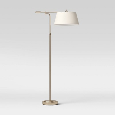 Farmhouse Swing Arm Floor Lamp Brass/Gold - Threshold™