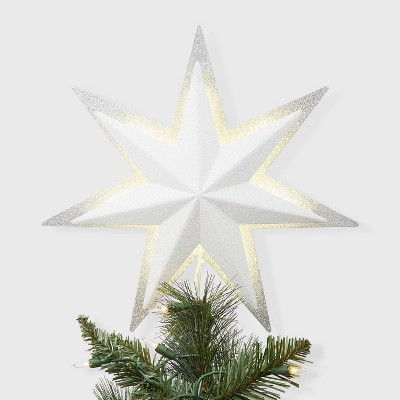 13 Backlit Star Tree Topper White - Wondershop™