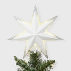 13'' Backlit Star Tree Topper White - Wondershop™