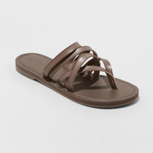 df339a87ded Women s Maritza Wide Width Slide Sandals - Universal Thread™ Gray 8.5W    Target