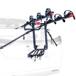 Allen Sports Premier 3 Bike Foldable Steel Trunk Carrier with Tie Down Straps