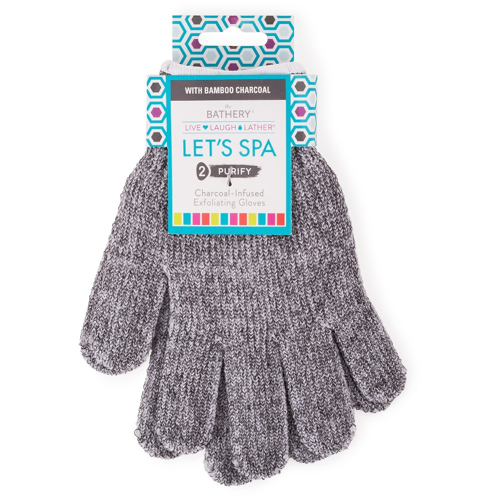 The Bathery Charcoal Infused Exfoliating Gloves