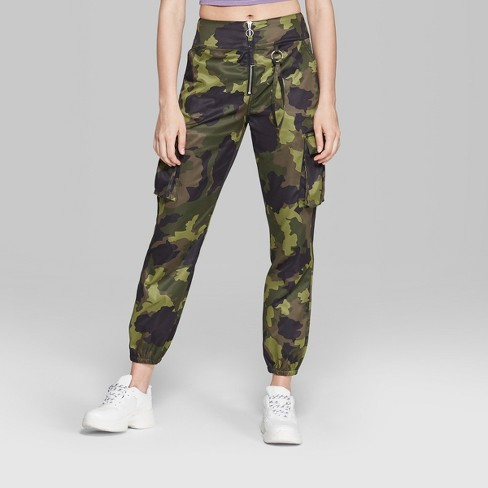 33670744a0744 Women's Camo Print Cargo Pants - Wild Fable™ Green : Target