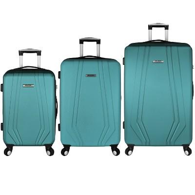 Elite Paris 3pc Hardside Spinner Luggage Set - Teal