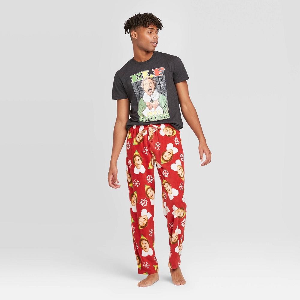 Image of Men's Elf Pajama Set - Black L, Men's, Size: Large