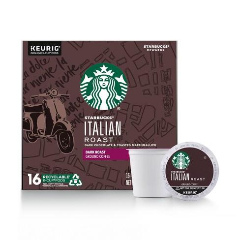Starbucks Italian Dark Roast Coffee - Keurig K-Cup Pods - 16ct - image 1 of 4