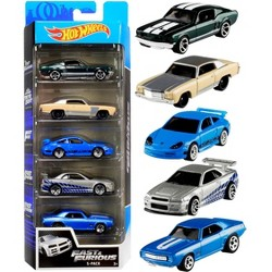 """Fast & Furious"" Set of 5 pieces 1/64 Diecast Model Cars by Hotwheels"