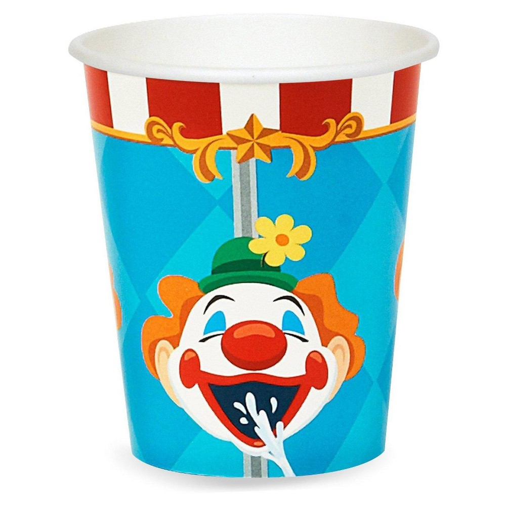 24ct Carnival Games - 9oz Cup, Multicolored