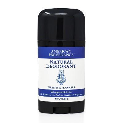 American Provenance Firepits & Flannels Aluminum-Free Natural Deodorant - 2.65oz