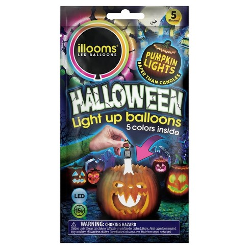 iLLoom Balloon® 5ct Halloween Light-Up Solid Color Balloons - image 1 of 11