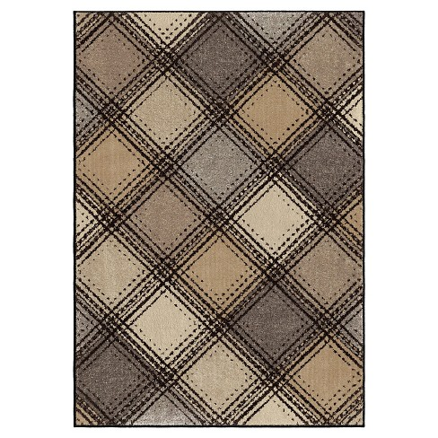 Wilkes Plaid Gray Rug - Orian - image 1 of 5