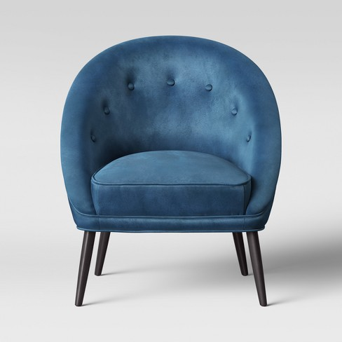 Portia Button Tufted Velvet Barrel Chair - Opalhouse™ - image 1 of 5