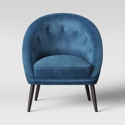 Exceptionnel Portia Button Tufted Velvet Barrel Chair   Opalhouse™