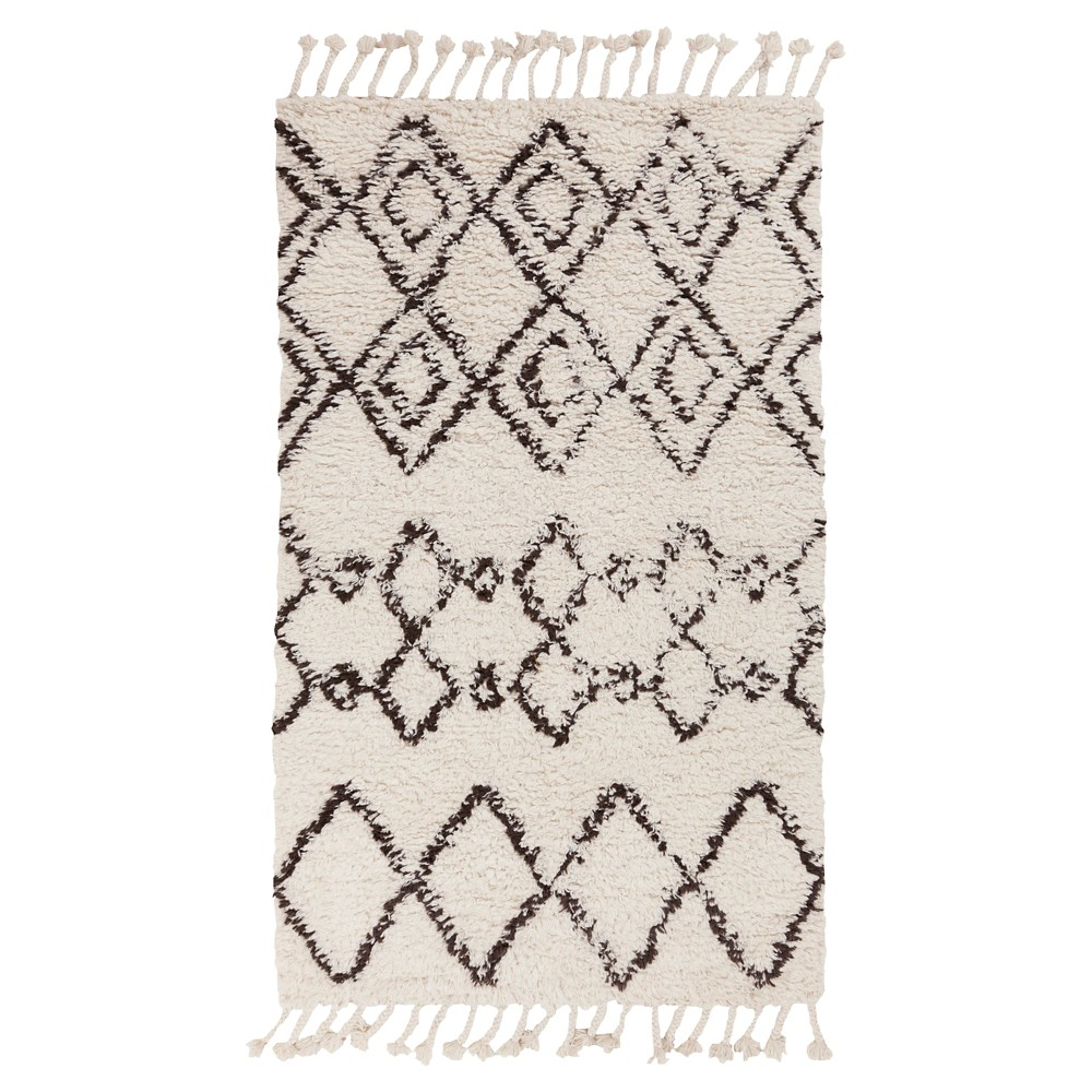 White Solid Woven Area Rug - (9'X13') - Surya
