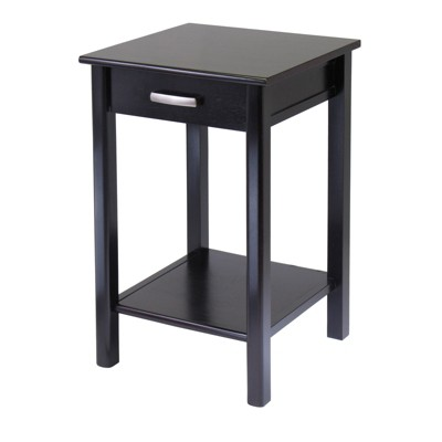 Liso End Table / Printer Table with Drawer and Shelf - Dark Espresso - Winsome