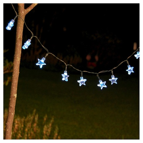 13 lumabase white stars solar led powered mini string lights target
