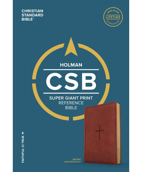 Holy Bible : Christian Standard Bible, Brown, Leathertouch, Super Giant Print Reference (Large Print) - image 1 of 1