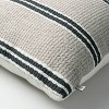 """18"""" x 18"""" Double Stripe Indoor/Outdoor Throw Pillow Black/Gray - Hearth & Hand™ with Magnolia - image 4 of 4"""