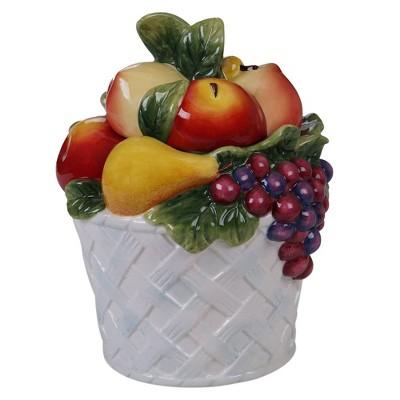 88oz Earthenware Fruit Basket Cookie Jar - Certified International