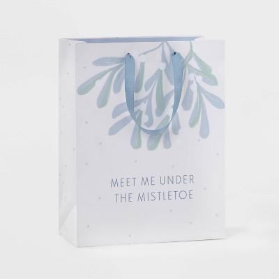 Large Mistletoe Cub Gift Bag Cream - Wondershop™