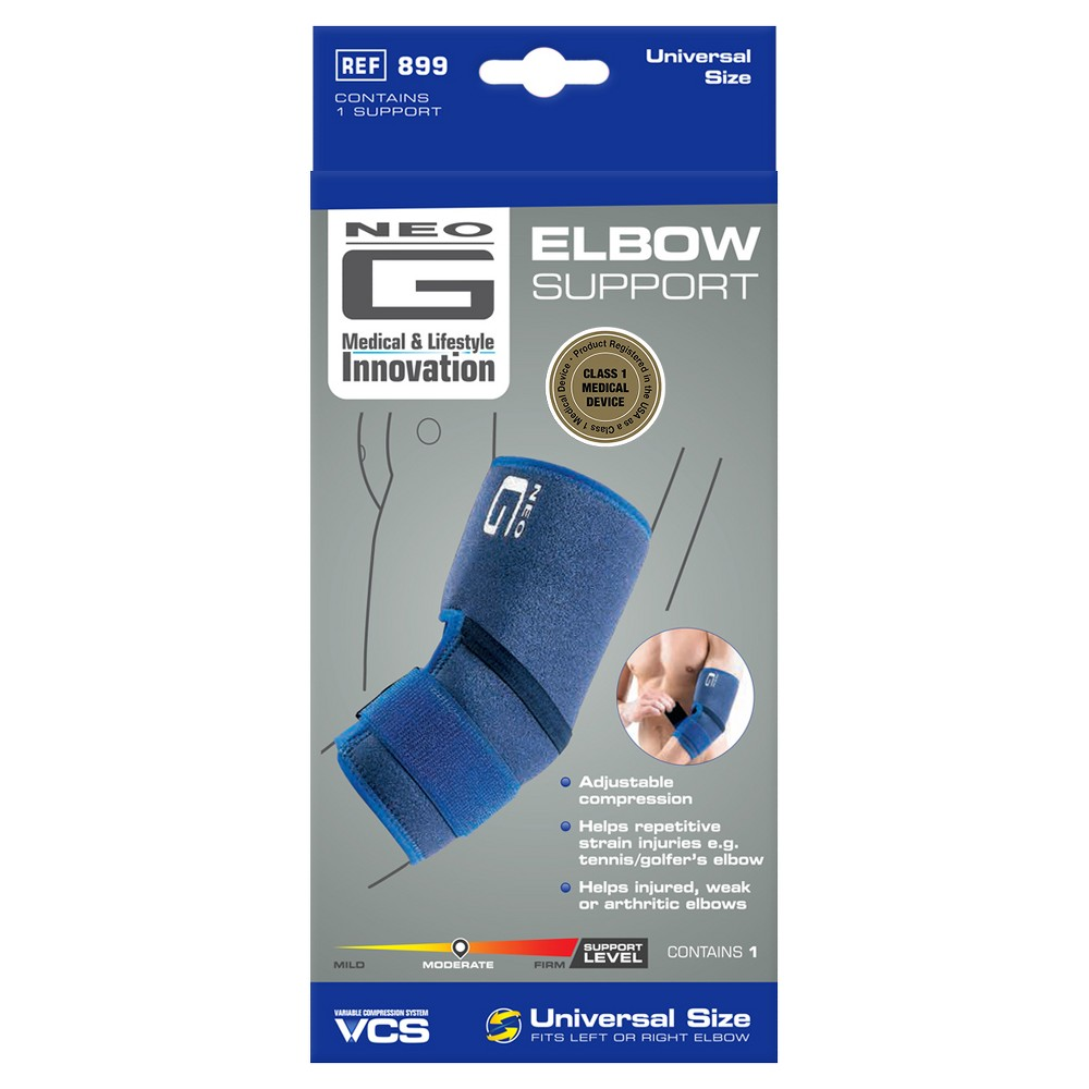 Neo G Elbow Support - One Size, Blue