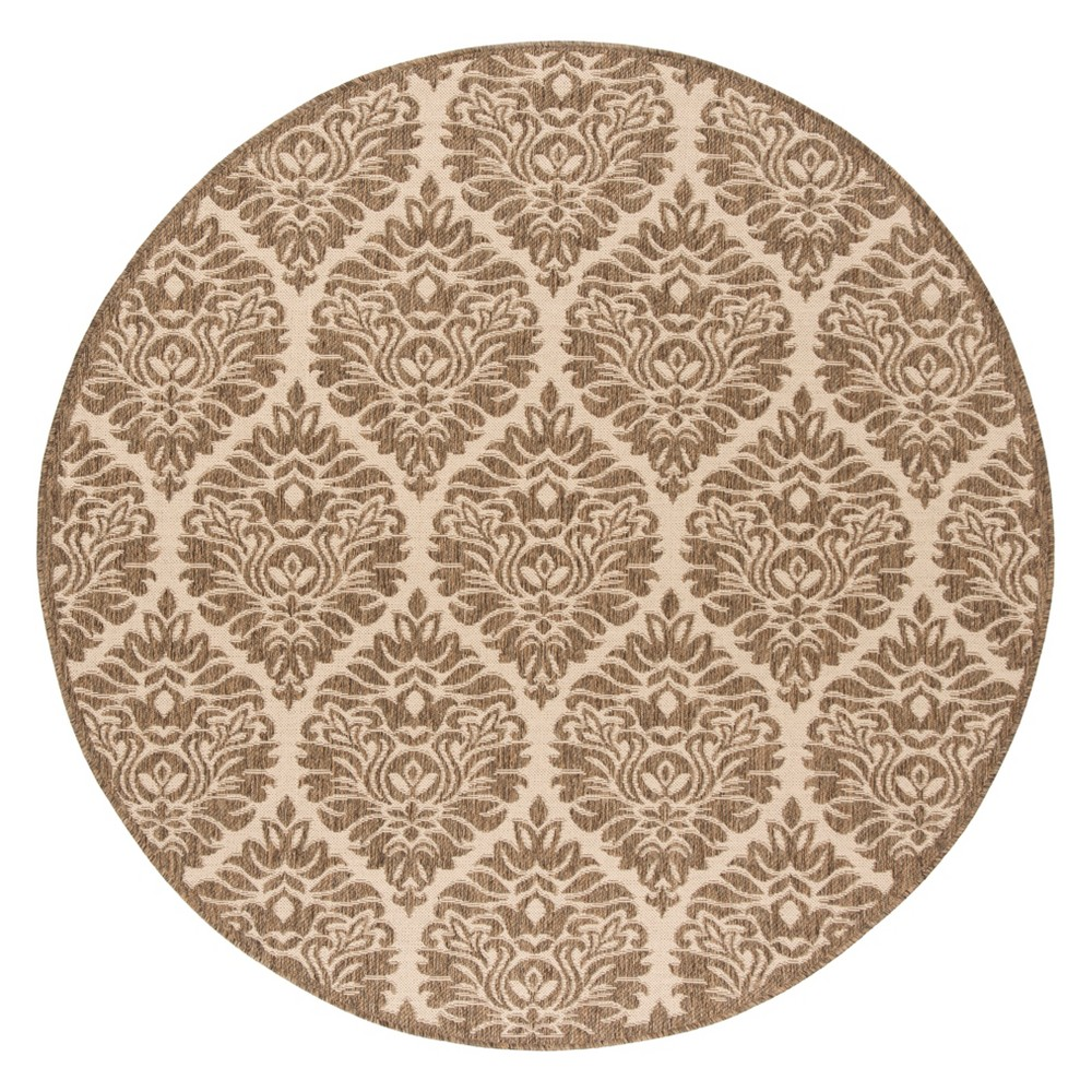 67 Dena Damask Loomed Round Area Rug Cream/Beige - Safavieh Reviews