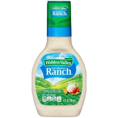 Hidden Valley Original Ranch Salad Dressing & Topping - Gluten Free - 8oz Bottle
