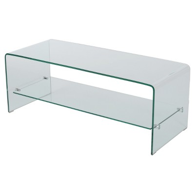 """Ramona 37"""" Console Stand w/ Shelf Clear- Christopher Knight Home"""