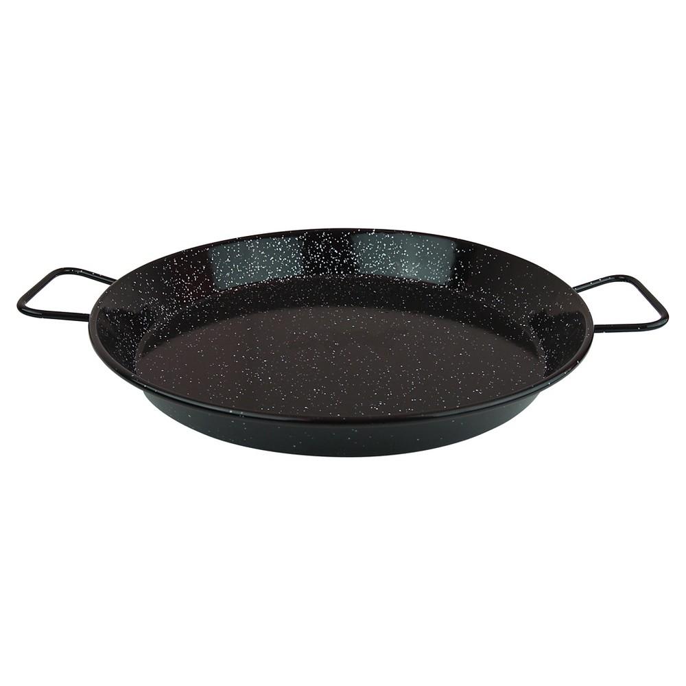 Magefesa Enameled On Steel 15 Paella Pan, Black