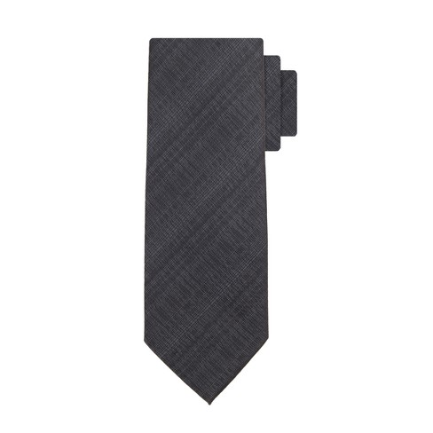 Men's Plaid Nonsolid Neckties - Goodfellow & Co™ Black One Size - image 1 of 3