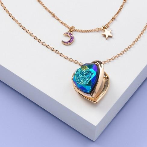 Girls' 2pk Star Moon Heart Pendant Necklace Set - More Than Magic™ - image 1 of 3