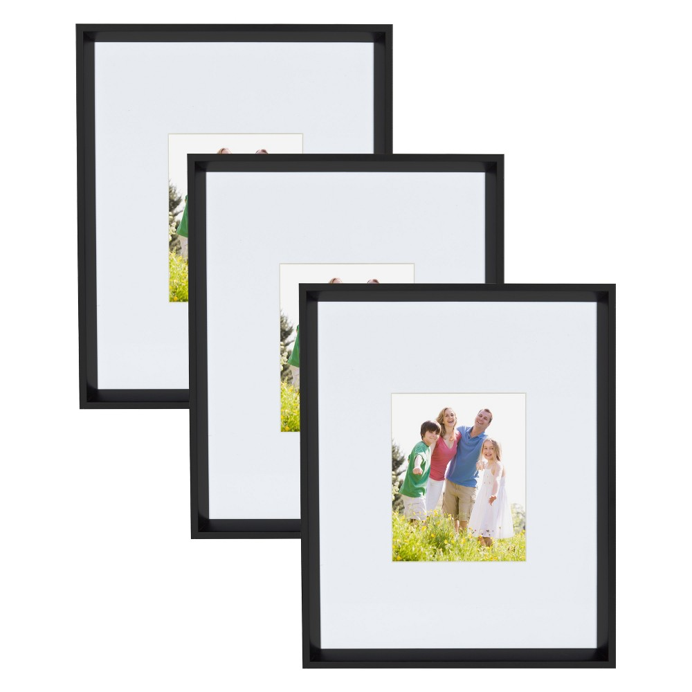 "Image of ""16"""" x 20"""" Calter Wall Picture Frame Set Black - Kate & Laurel All Things Decor"""