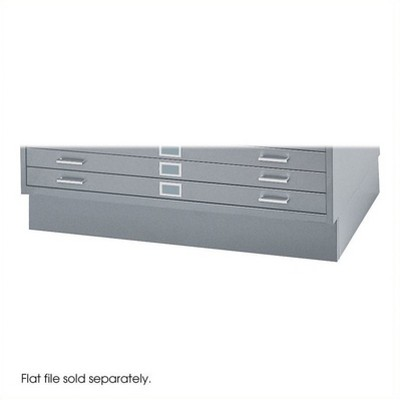 Steel Closed Low Base for 4998 Flat File Cabinet in Gray-Safco