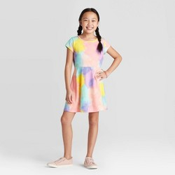 Girls' Short Sleeve Tie-Dye Dress - Cat & Jack™
