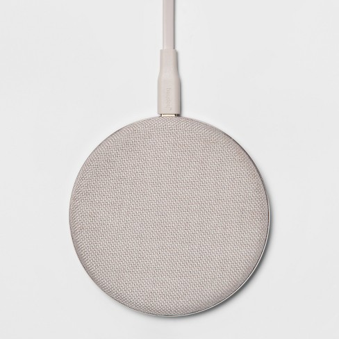 heyday™ Qi Wireless Fabric Charging Puck (with Cable & Wall Charger) - image 1 of 3
