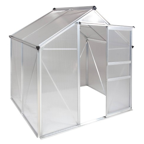 6'X 4' Walk-In Aluminum Greenhouse Clear - OGrow - image 1 of 4