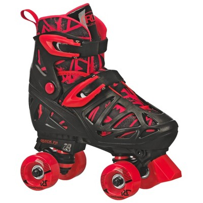 Roller Derby Trac Star Youth Boy's Adjustable Roller Skate - Gray/Black/Red