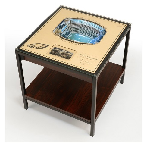 Nfl Philadelphia Eagles 25 Layer Lighted Stadiumview End Table Target