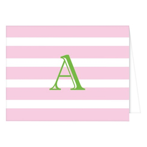 RosanneBECK Collections Folded Notes - Cabana Stripe Monogram - image 1 of 1