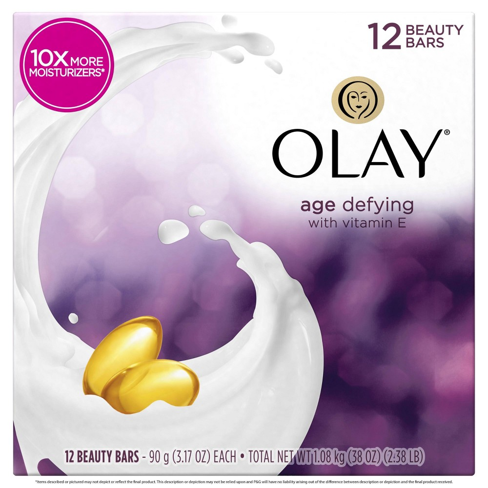 Image of Olay Age Defying with Vitamin E 12-Bar Soap - 38oz