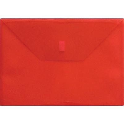 "Lion Envelope Poly Side-loading Hook/Loop 13""x9-3/8"" Red 22080RD"