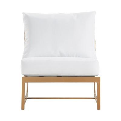 Mirabelle Armless Outdoor Chair - Gold - Adore Decor