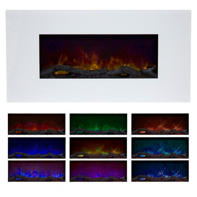 Northwest 36'' Color Changing Led Electric Fireplace with Remote White