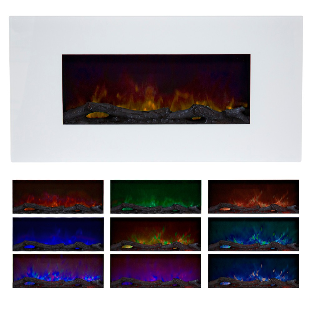 Northwest 36'' Color Changing Led Electric Fireplace With Remote -White, White