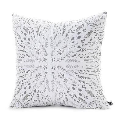 Gray/Abstract Iveta Abolina Maze Throw Pillow - (20 x20 )- Deny Designs®