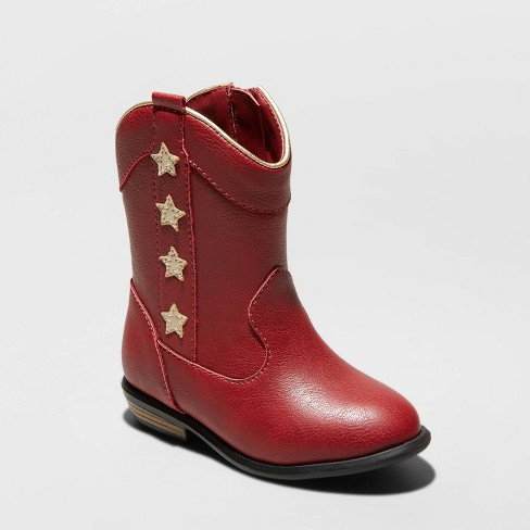 Toddler Girls' Anika Western Boots - Cat & Jack™ Red - image 1 of 3