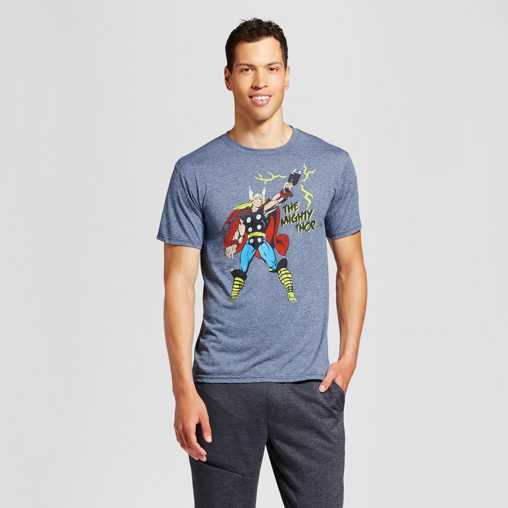 Men's Marvel Thor Graphic T-Shirt - Navy Heather XL, Blue