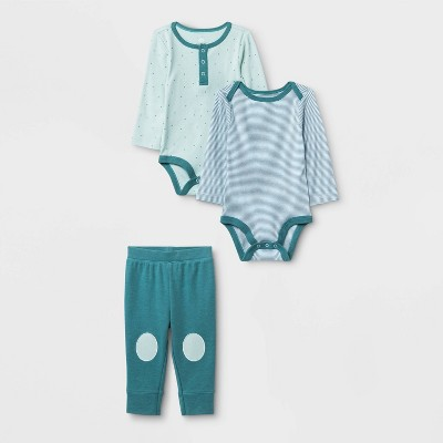 Baby Boys' 3pc Boutique Layette Set - Cloud Island™ Blue 6-9M