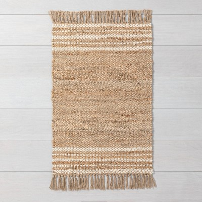 2' x 3' Jute Stripe Rug Cream - Hearth & Hand™ with Magnolia