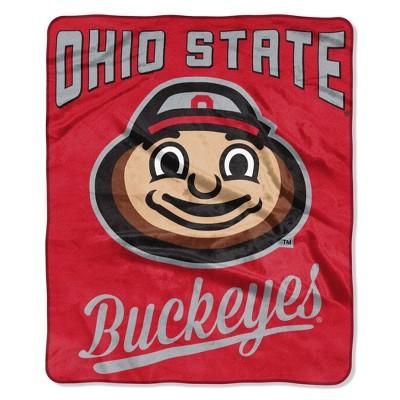 NCAA Ohio State Buckeyes Alumni Raschel Throw Blanket
